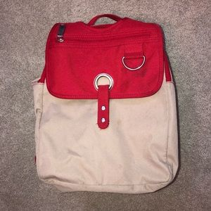 TH Red and Tan Backpack